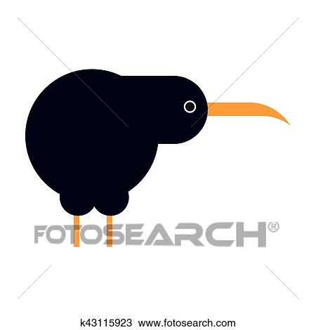 Isola nord marrone uccello kiwi cartone animato appartamento