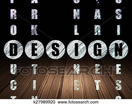 Parete Di Legno Cruciverba : Galleria di illustrazioni marketing concept: parola disegno in