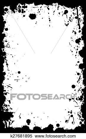 clipart of grunge vector ink splat border 11x17 k27681895 search rh fotosearch com grunge background clipart grunge baseball clipart