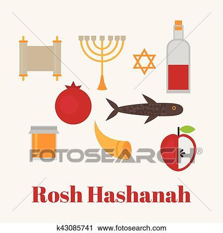 Clipart of rosh hashanah jewish new year greeting card hebrew clipart rosh hashanah jewish new year greeting card hebrew symbols judaism elements m4hsunfo