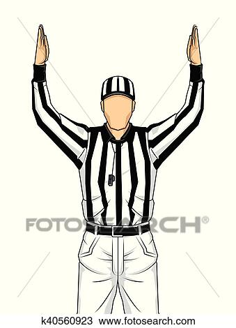 clipart of american football referee with both hands up as a rh fotosearch com referee touchdown clipart referee touchdown clipart