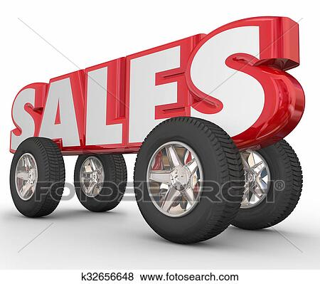3D Auto Sales >> Auto Car Sales 3d Word Wheels Tires Stock Illustration