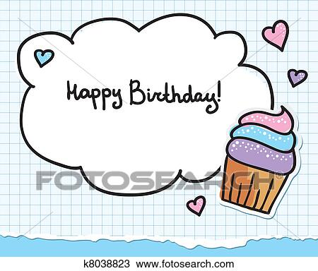Clipart Of Birthday Greeting Card K8038823