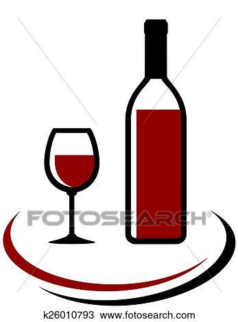 Dessin bouteille et verre vin rouge k26010793 - Verre de vin dessin ...