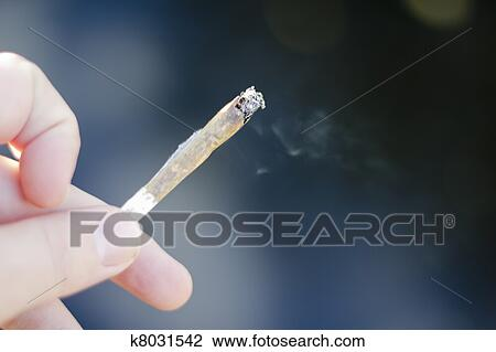 Cannabis Joint Smoking Weed Stock Image K8031542 Fotosearch