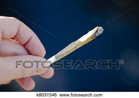 Cannabis Joint Smoking Weed Stock Photograph K8031546 Fotosearch