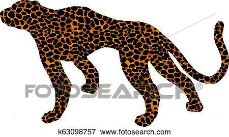 Desenhado Onca Pintada Leopardo Gato Selvagem Pantera