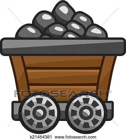 clipart of mine cart with coal k21454381 search clip art rh fotosearch com coral clip art mining coal clipart