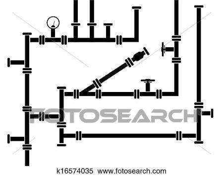 Clipart - Seamless, hintergrund, von, wasser, rohrleitung k16574035 ...