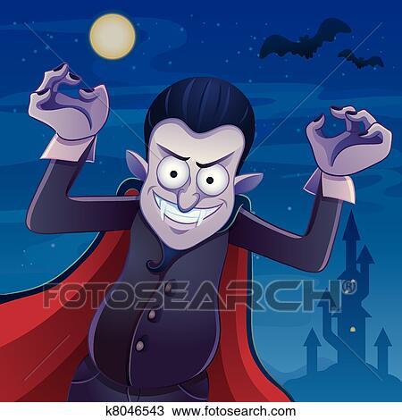 Dracula cartone animato clipart k fotosearch