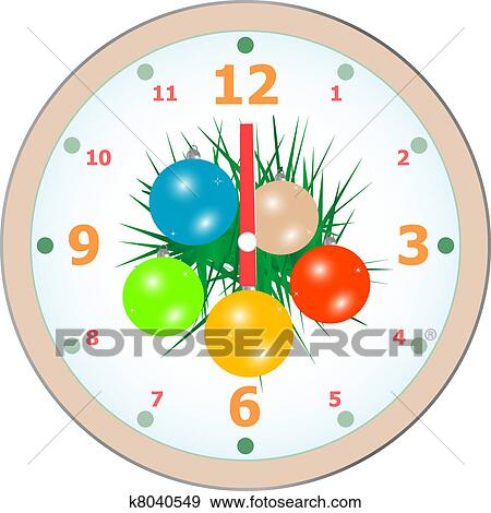 clip art new year wall clock congratulation card vector fotosearch search clipart
