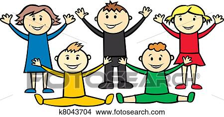 clipart of olympic children k8043704 search clip art illustration rh fotosearch com Summer Olympics Clip Art Winter Olympics Clip Art