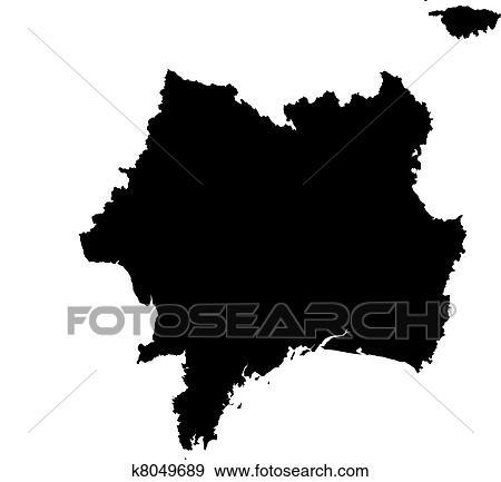 Terkep Kozul Franciaorszag Clip Art K8049689 Fotosearch