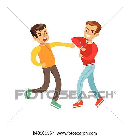 Boy girl fist fight