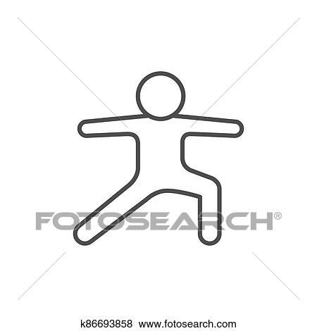 yoga asana line outline icon clip art  k86693858  fotosearch