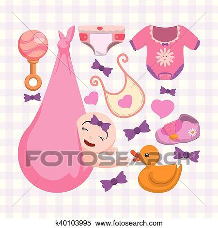 Baby Shower Invitation Card Design Clipart K40103995