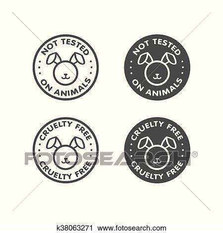 Clipart Of Cruelty Free Not Tested On Animal K38063271 Search