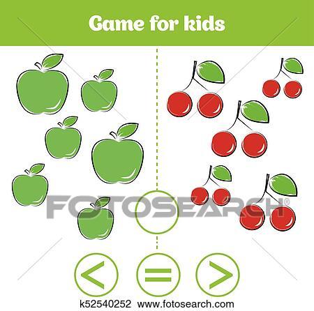 Clipart - educación, lógica, juego, para, preescolar, kids., elegir ...