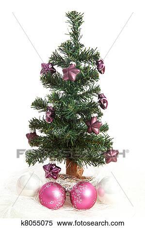 Weihnachtsbaum Plastik Weiß.Plastik Weihnachtsbaum Mit Lila Sternen Stock Fotografie