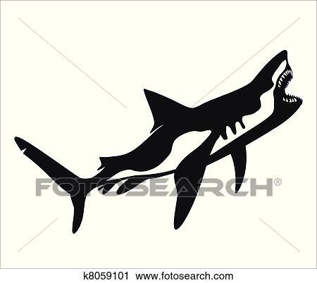 Vector Shark Tattoo Clipart