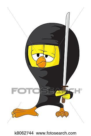 Clipart Cartone Animato Ninja Pulcino K8062744 Cerca Clipart