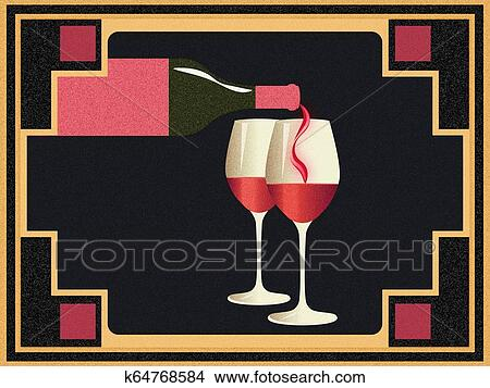 Grunge Retro Wine Banner Stock Illustration K64768584 Fotosearch