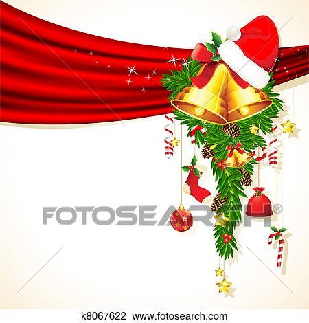 Clipart Weihnachtsdeko K8067622 Suche Clip Art Illustration