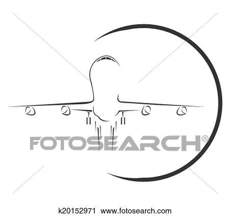 Clipart Of Aeroplane Symbol K20152971