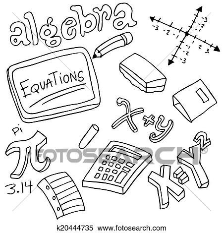 Algebra Symbols and Objects Clipart