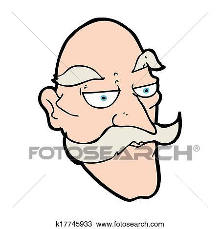 Caricatura Homem Velho Rosto Desenho K17745933 Fotosearch