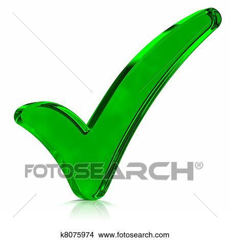 Drawings Of Green Check Mark Symbol K8075974 Search Clip Art