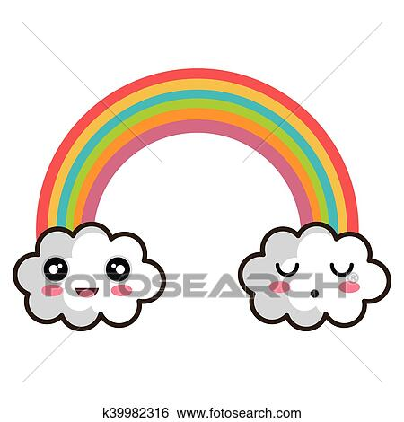 Kawaii Cartoon Rainbow Clip Art K39982316 Fotosearch