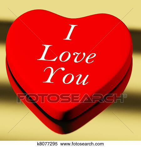 Stock Image Of Red Heart With I Love You As Symbol For Valentines