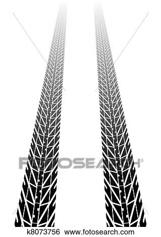 clip art of tire tracks into distance k8073756 search clipart rh fotosearch com tire track clipart free muddy tire track clipart