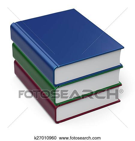 3 Books Clipart