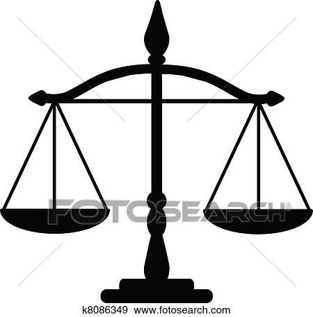 clip art of justice scales k8086349 search clipart illustration rh fotosearch com lady justice scales clipart
