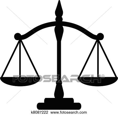 clipart of justice scales k8087222 search clip art illustration rh fotosearch com clipart justice scale scale of justice clip art free
