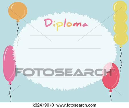 clipart preschool elementary school kids diploma certificate background design template school diploma