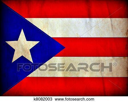 dibujo puerto rico grunge bandera k8082003 buscar clip art