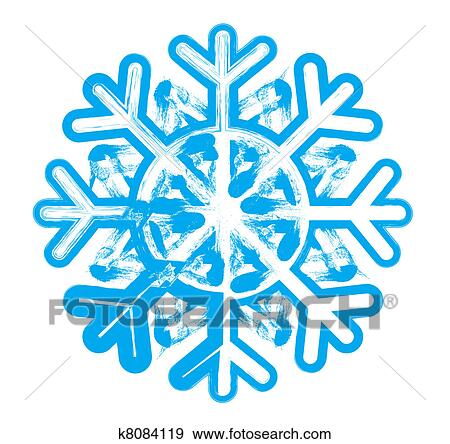 stock illustration of snowflake element for design vector rh fotosearch com snowflake vectors free snowflake vector image