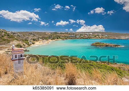 Kalathas Beach Crete Island Greece Stock Image K65385091