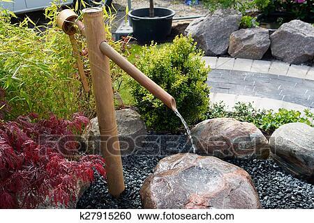 Waterval In Tuin : Stock fotografie mooi japanse tuin decoratief waterval