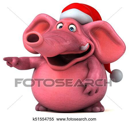 Pink elephant - 3D Illustration Stock Illustration ...