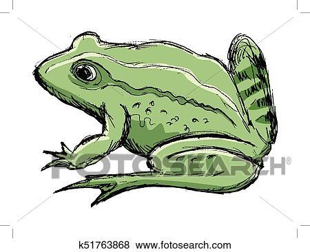 clipart sapo anfíbio animal k51763868 busca de clip art