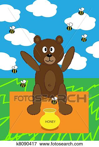 Stock Illustration Of Teddy Bear Picnic K8090417 Search Eps