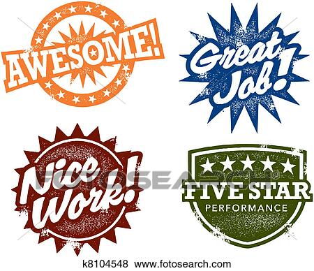Pictures of Great Job Awesome Stamps k8104548 Search Stock Photos