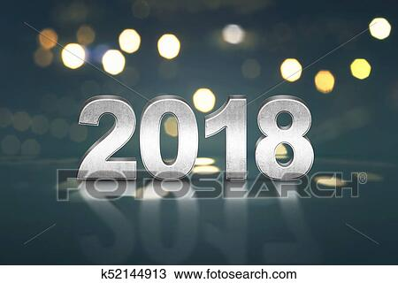 2018 number against bokeh background happy new year 2018