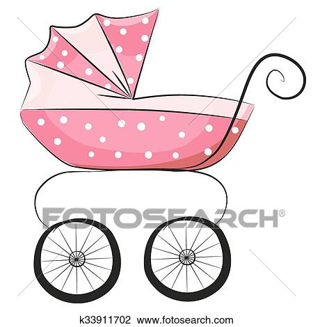 clipart of baby carriage k33911702 search clip art illustration rh fotosearch com baby carriage clipart gold and pink baby carriage clipart purple