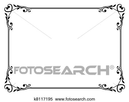 Clipart of calligraphy ornamental decorative frame with heart ...