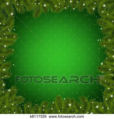 clipart christmas border with new year tree fotosearch search clip art illustration